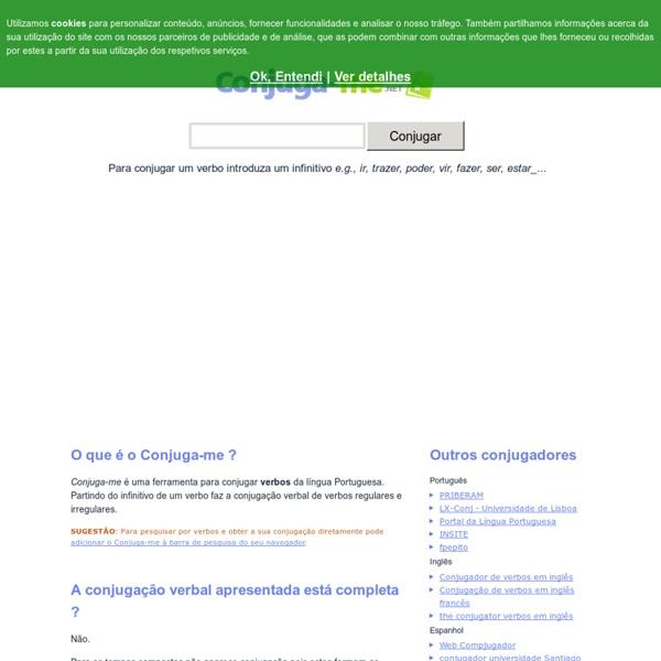 Conjugação de verbos regulares e irregulares