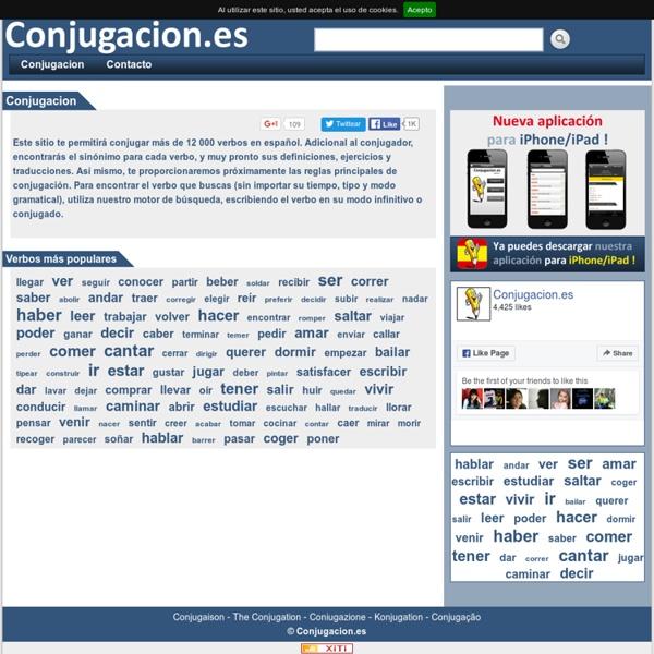 Conjugación de verbos en español - Conjugar Verbos