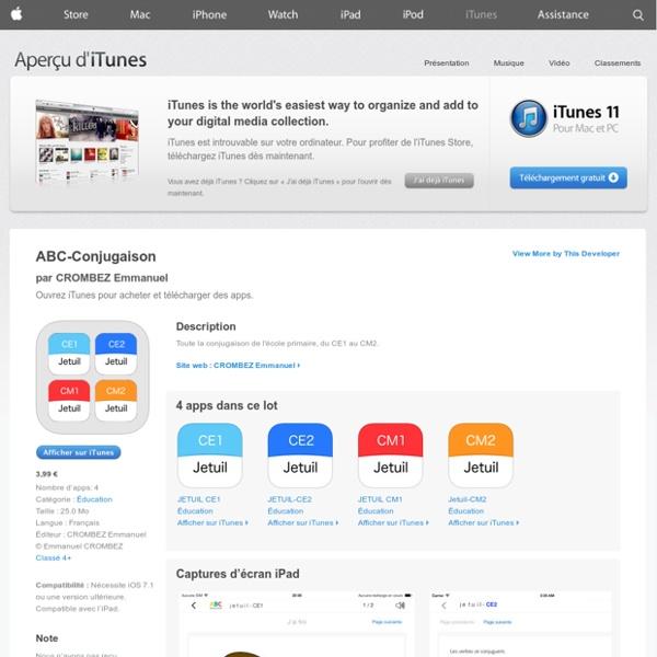 ABC-Conjugaison pour iPhone, iPod touch et iPad dans l'App Store sur iTunes