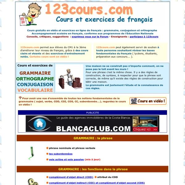 Cours de français en vidéo