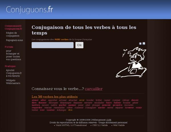 Conjugaison de tous les verbes français