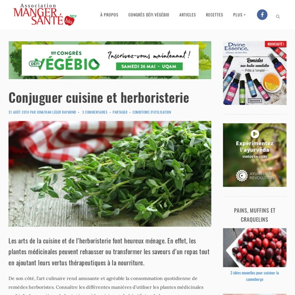 Conjuguer cuisine et herboristerie