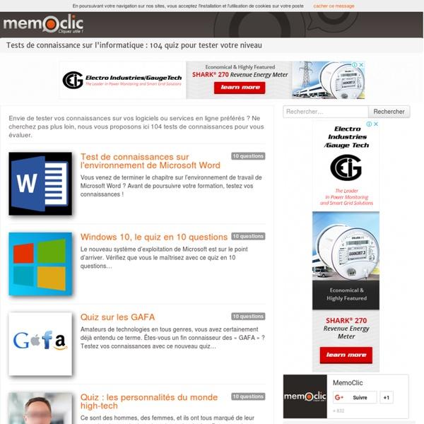 Test de connaissance - MemoClic