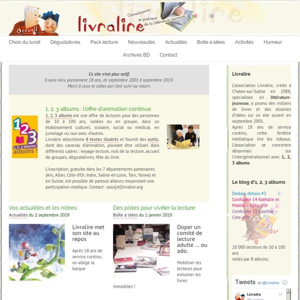 Livralire : Sélection livres jeunesse, animation lecture, formation