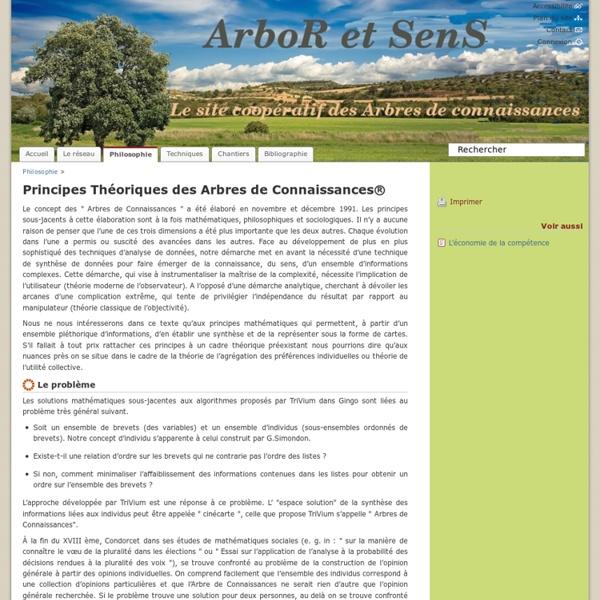 Principes Théoriques des Arbres de Connaissances® - Informations sur les arbres de connaissances
