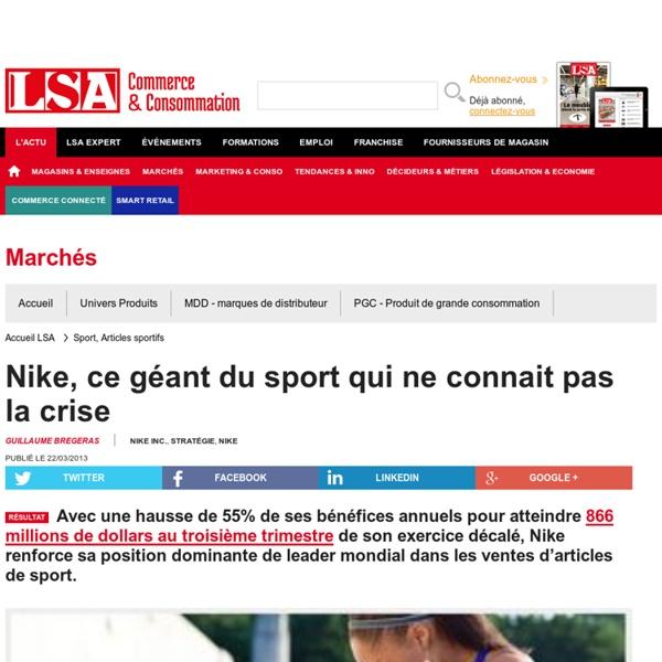Nike, ce géant du sport qui ne connait pas la... - Sport, Articles sportifs