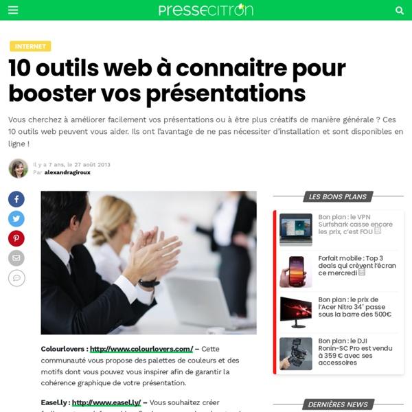 10 outils web à connaitre pour booster vos présentations