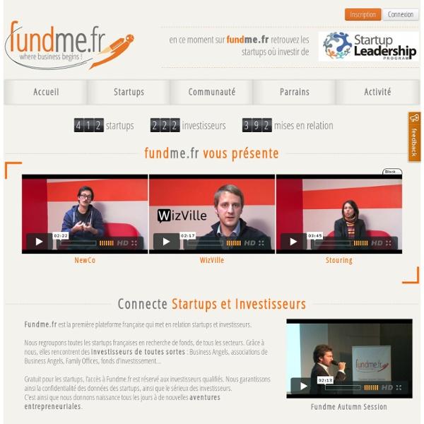 Fundme.fr - Connecte Startups et Investisseurs