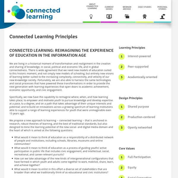 Connected Learning Principles