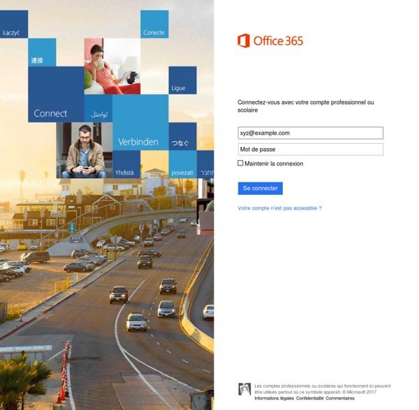 Se connecter à Microsoft Online Services