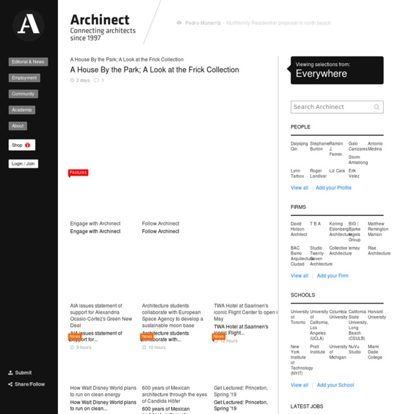 Archinect - Making Architecture More Connected (since 1997)