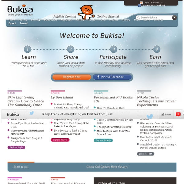Bukisa - Share your Knowledge, Earn Money