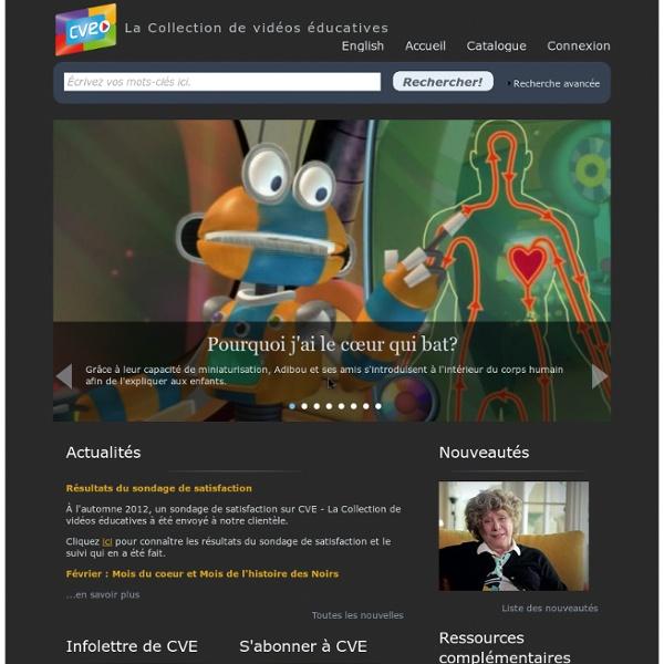 CVE - La Collection de vidéos éducatives