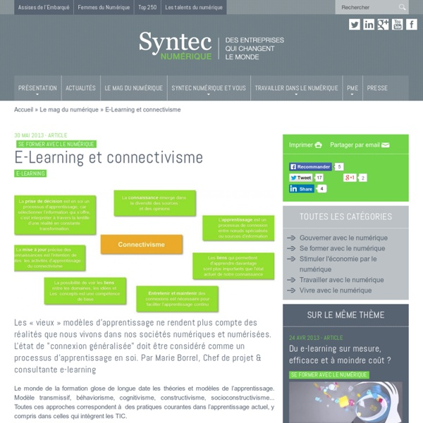 E-Learning et connectivisme