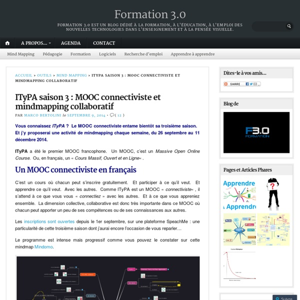ITyPA saison 3 : MOOC connectiviste et mindmapping collaboratif