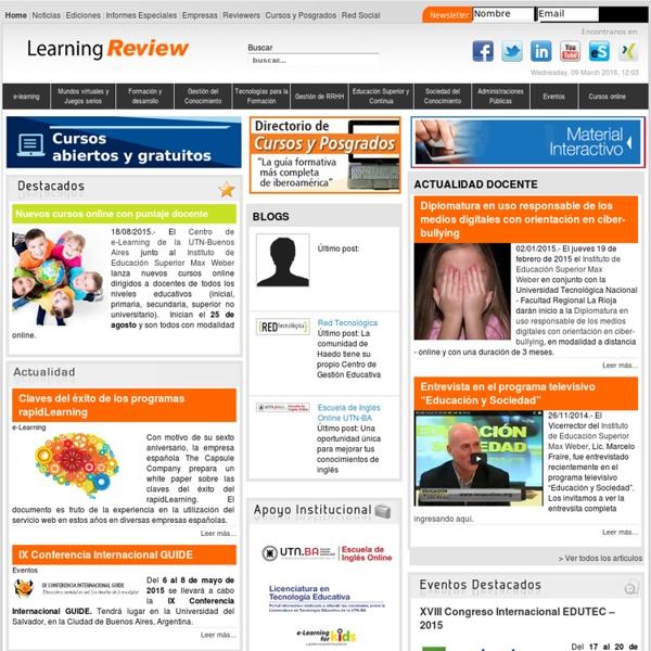 Learning Review: medio de e-Learning - gestión del conocimiento - formación con TICs