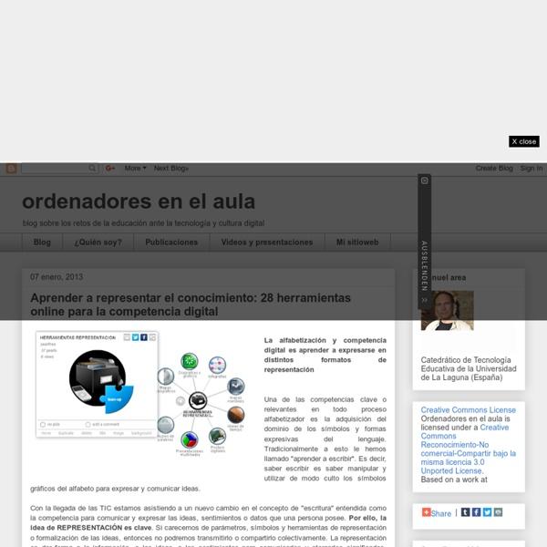 Aprender a representar el conocimiento: 28 herramientas online para la competencia digital