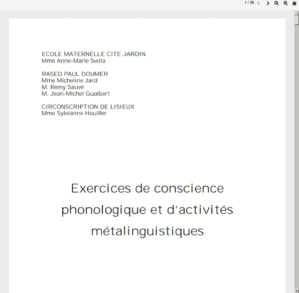 Exercice conscience phonologique
