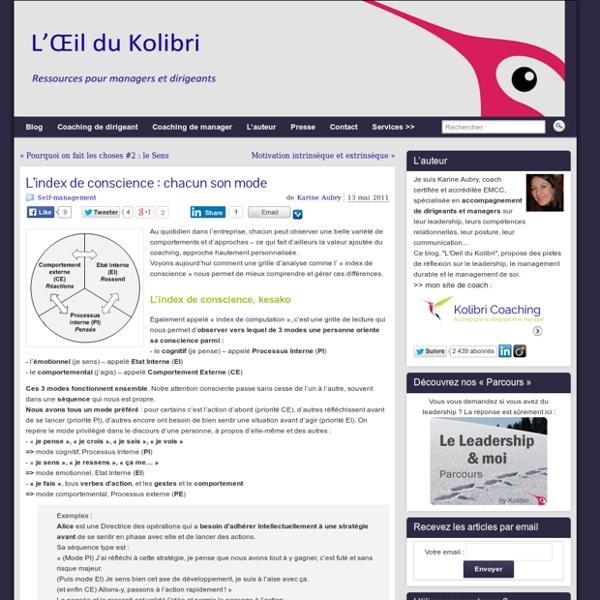 L'Œil du Kolibri - Ressources pour managers et dirigeants