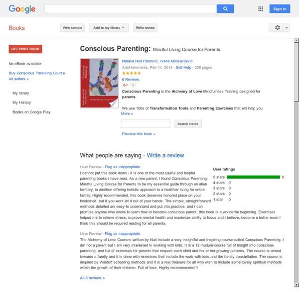 Conscious Parenting: Google Books Reviews