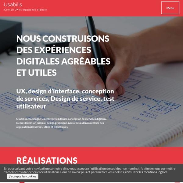 Usabilis - Ergonomie informatique, ergonomie logicielle, design et conception d'interface pour les applications logicielles, web, mobiles et tactiles