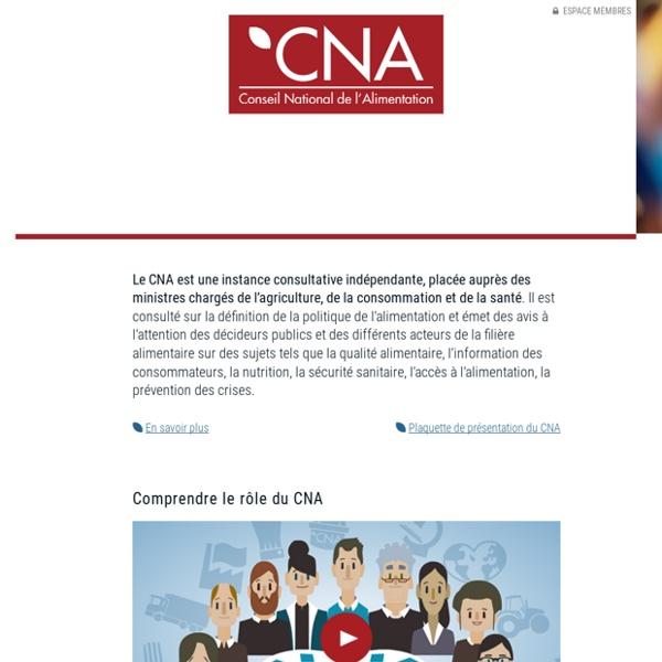 CNA 17/12/03 Avis sur les perspectives pour l'avenir de la recherche en alimentation à l'INRA
