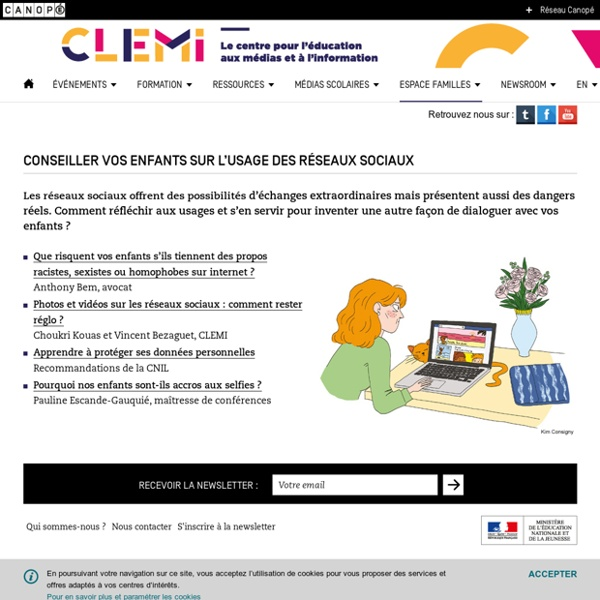 Conseiller vos enfants sur l'usage des réseaux sociaux- CLEMI