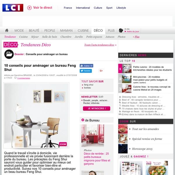 10 conseils pour am nager un bureau feng shui tendances d co pearltrees. Black Bedroom Furniture Sets. Home Design Ideas