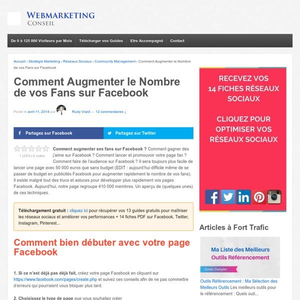 ▶ 25 Conseils pour Augmenter vos Fans sur Facebook [Guide Complet]