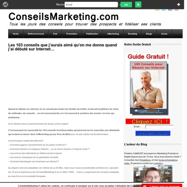 103 conseils pour débutants en eMarketing