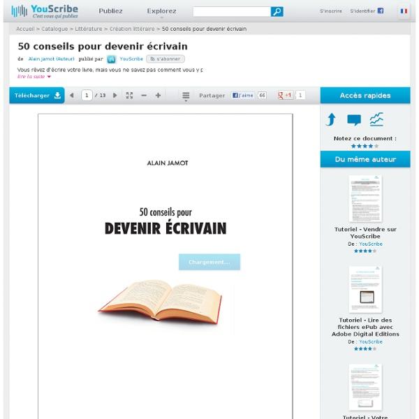 50 conseils pour devenir écrivain - Alain Jamot - Création littéraire