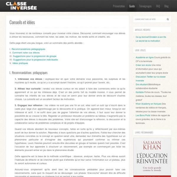 Conseils et idées : Guide