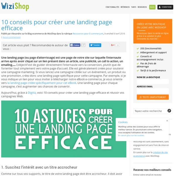 10 conseils pour créer une landing page efficace