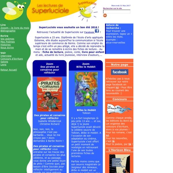 Conseils de lecture et livres pour enfants : Superluciole