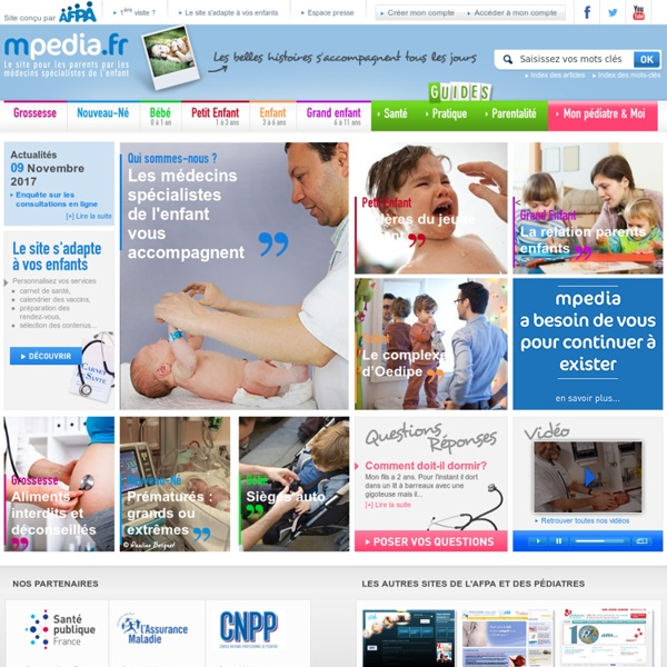 Conseils aux parents par les médecins de l'enfant - mpedia.fr