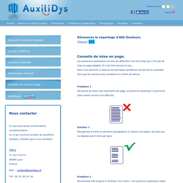 Mise en page des documents