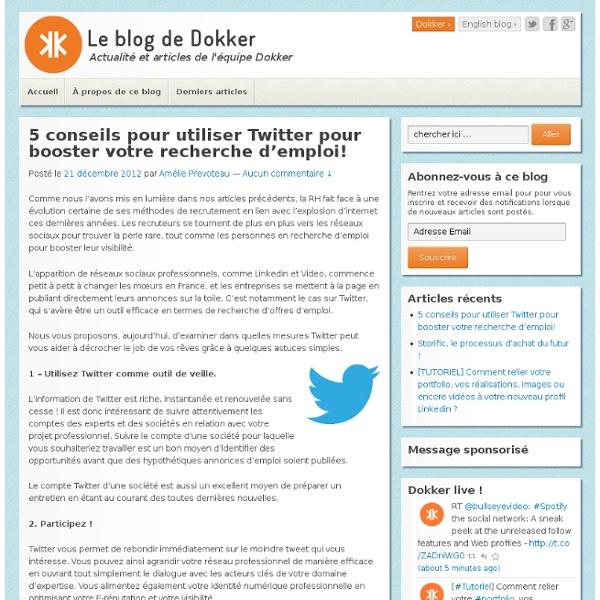 5 conseils pour booster votre recherche d'emploi grâce à Twitter !