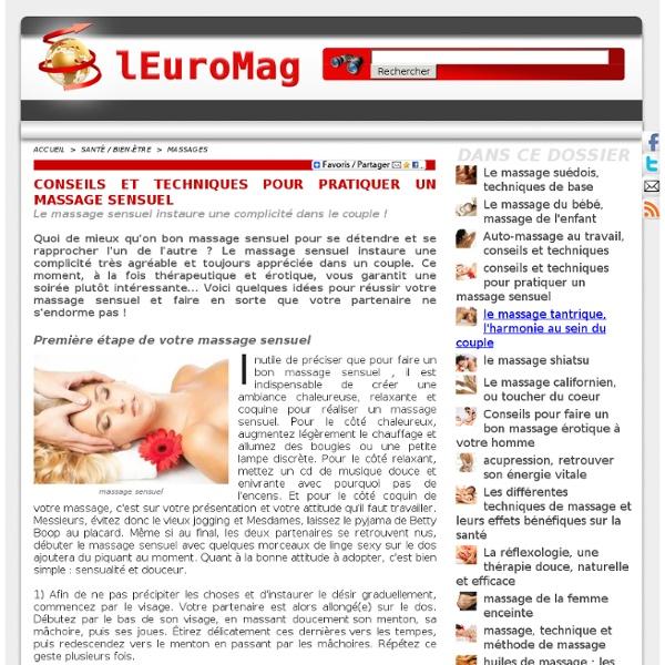 Massage Sensuel : Conseils et Techniques pour pratiquer un Massage Sensuel