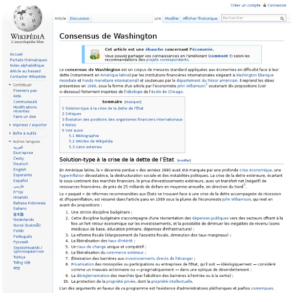 Consensus de Washington