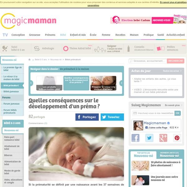 Bébé prématuré : quelles conséquences sur son développement ?