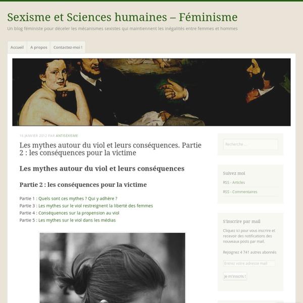 [French] Les mythes autour du viol Partie 2 : les conséquences pour la victime