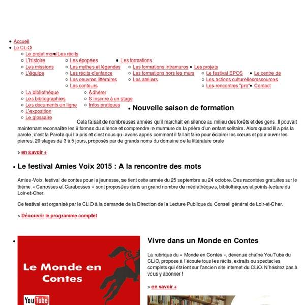 Le CLiO, Conservatoire contemporain de Littérature Orale