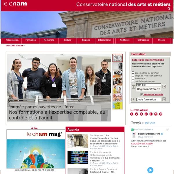 Cnam - Conservatoire national des arts et métiers - Portail national - Accueil - -