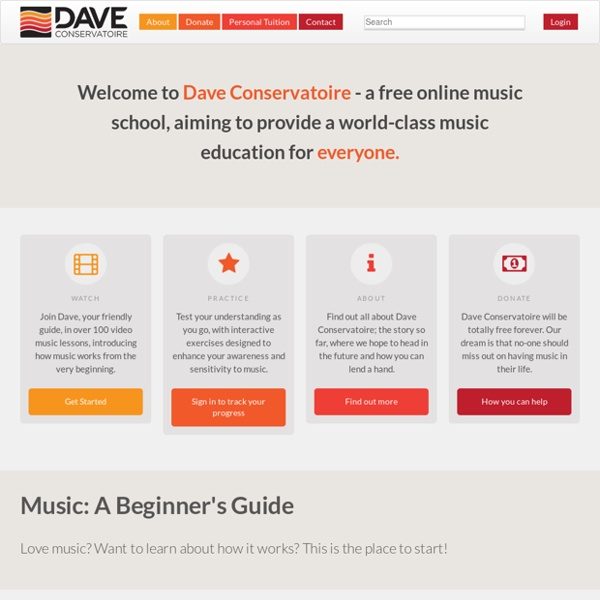 Dave Conservatoire - Learn Music Theory for Free