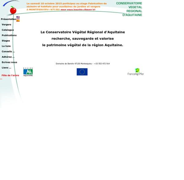 Conservatoire Végétal Régional d'Aquitaine www.conservatoirevegetal.com