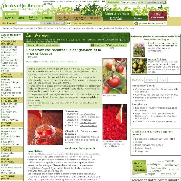 Conservez vos récoltes : la congélation et la mise en bocaux