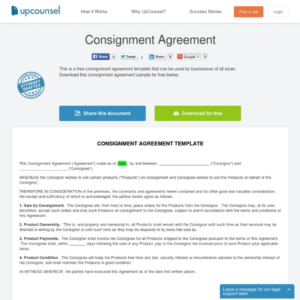 Generous Free Consignment Agreement Ideas - Resume Ideas - bayaar.info