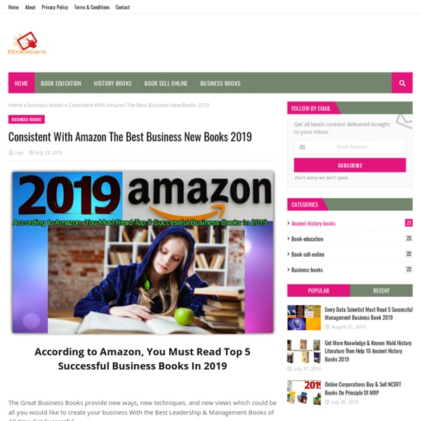 Consistent With Amazon The Best Business New Books 2019