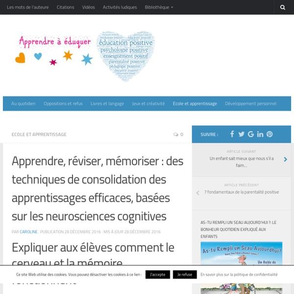 Apprendre, réviser, mémoriser : des techniques de consolidation des apprentissages efficaces