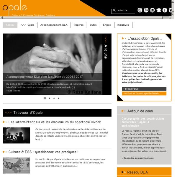 Association Opale - Accompagner la consolidation et le développement des structures artistiques et culturelles
